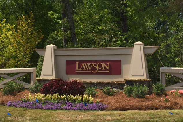 Lawson Entry Sign