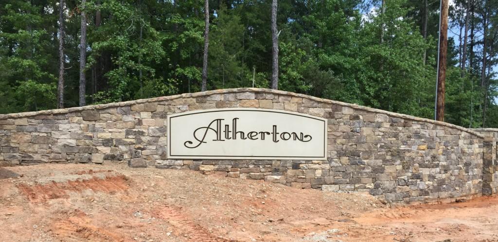 Atherton Entry Sign