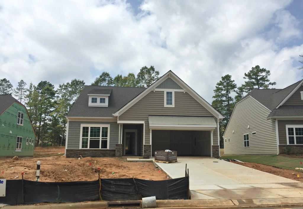 Neighborhood Home Under Construction